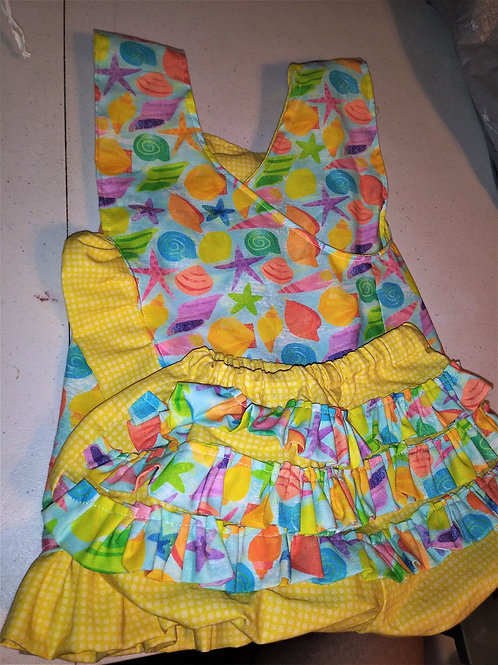 Yellow Gingham and Shell Play Set