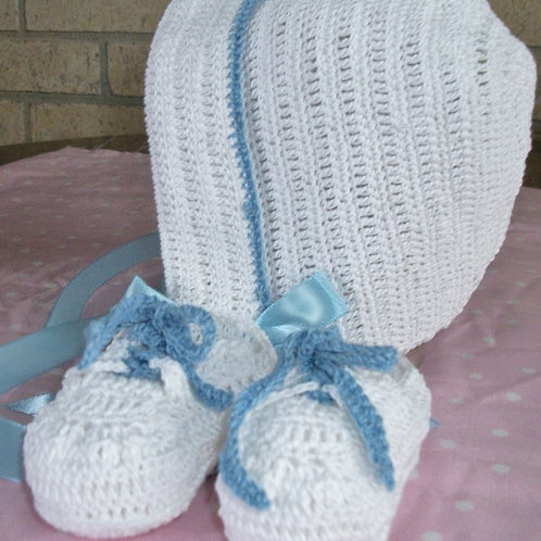 Boys Hat and Sneaker Set- newborn to 3 months