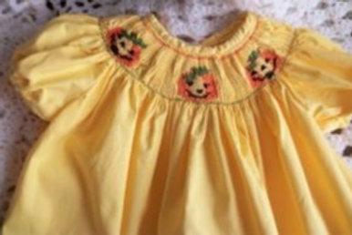 Gold Dress featuring Jack-o-lanterns,18 months
