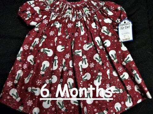 Snowman and Snowman Dress, 6 months
