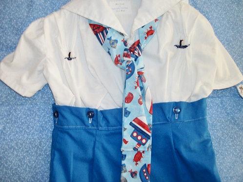 Boys Sailor Button Suit, 18 months