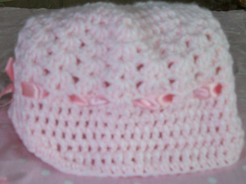 Pink Brim Hat For Little Girls
