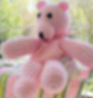 Pink bear stuffie