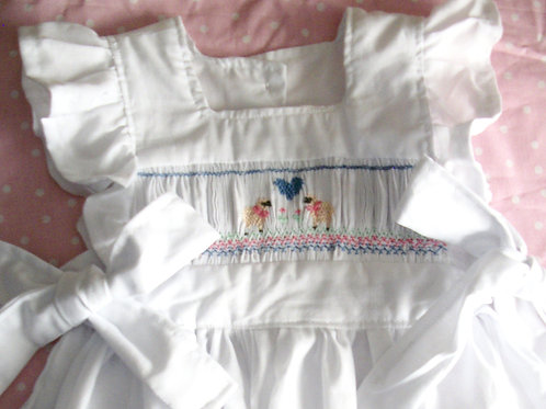 Sheep and Heart Pinafore