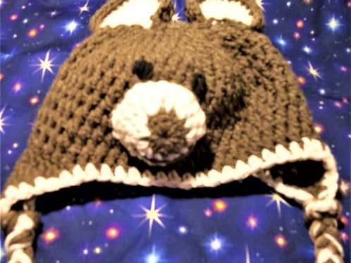 Baby Bear Hat - size 3 - 6 onths