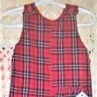 Christmas Plaid Button Suit, Size 12 Months