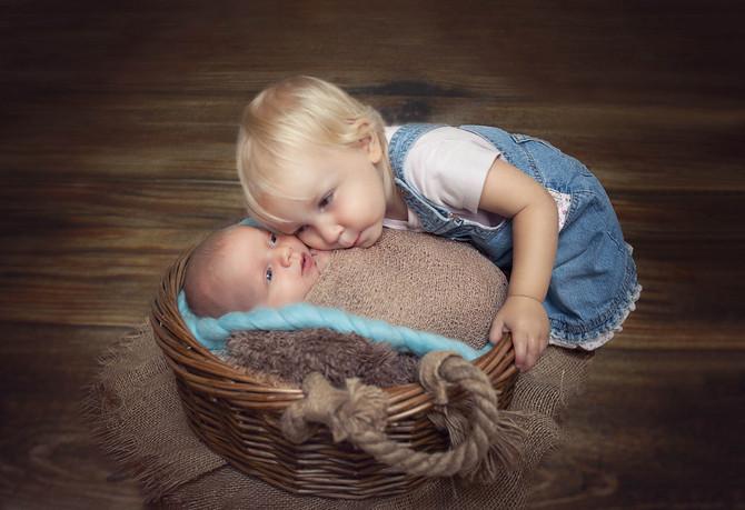 Neugeborene Session mit Familie