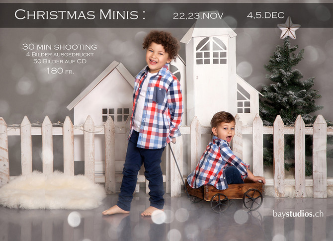 Noch freie Plätze für Christmas Minishootings