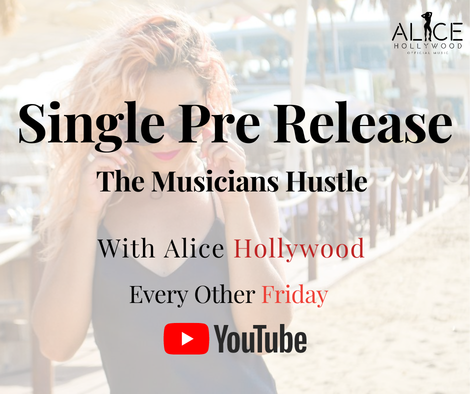 UK singer Alice Hollywood Talking about her single pre release strategy