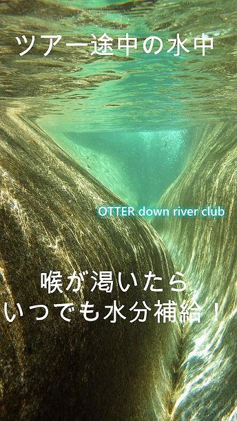 澄み切った川 透明度の高い水中