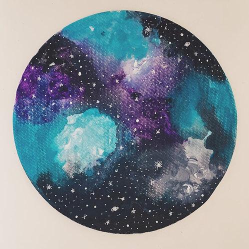 Galaxy - Moon Canvas