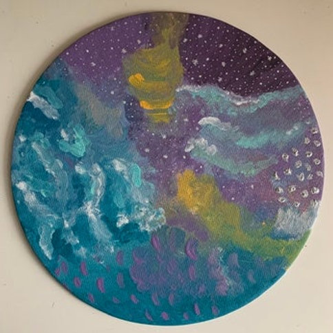 Two Worlds - Moon Canvas