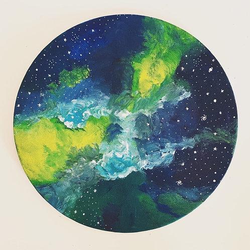 Earth Galaxy - Moon Canvas