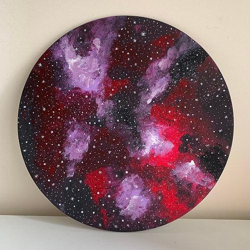 Andromeda - Galaxy Moon Canvas
