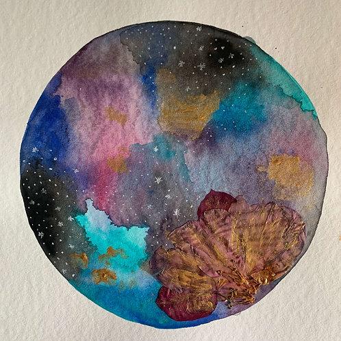 Cosmic Flower - Blue