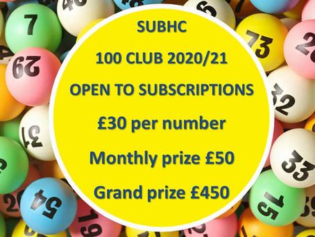 SUBHC 100 Club 2020/21