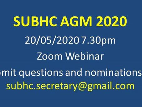 SUBHC AGM 2020