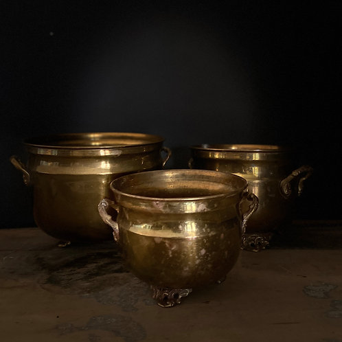 Ensemble vases laiton