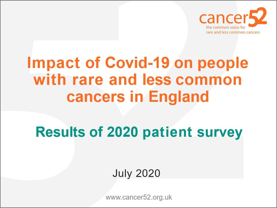 Cancer52 Patient Survey Results - July 2020