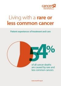 """Living with a rare or less common cancer, patient experiences of treatment and care"""