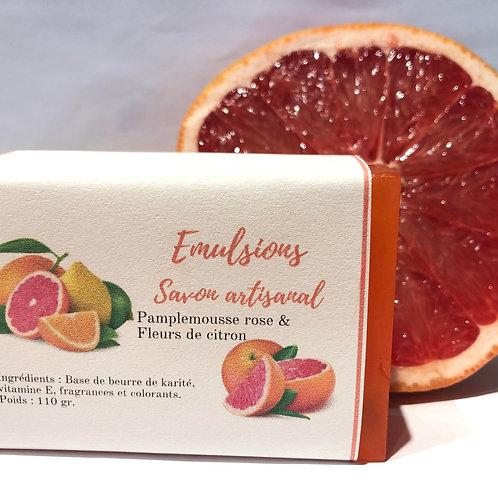Savon Pamplemousse rose & fleurs de citron