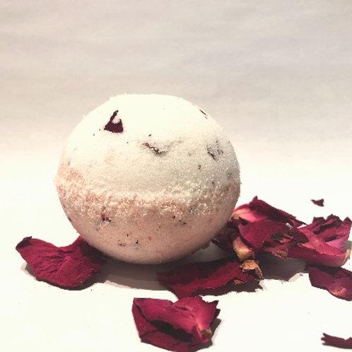 Bombe de bain à la rose 110 gr.