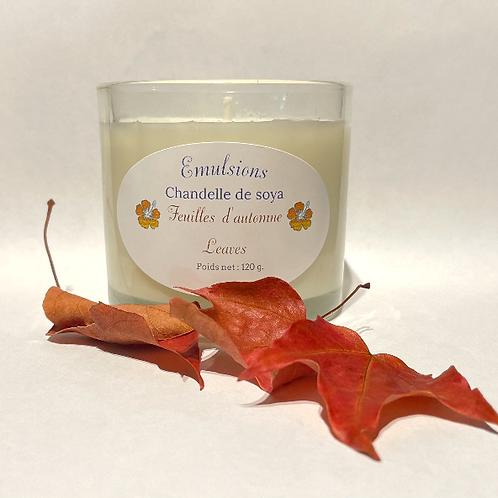 Chandelle Feuilles d'automne -- Leaves