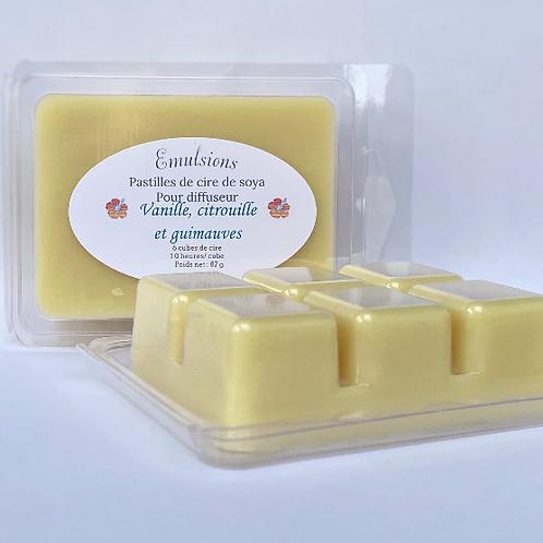 Pastilles de cire Guimauve, vanille et citrouille