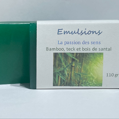 Savon Bambou, teck et bois de santal