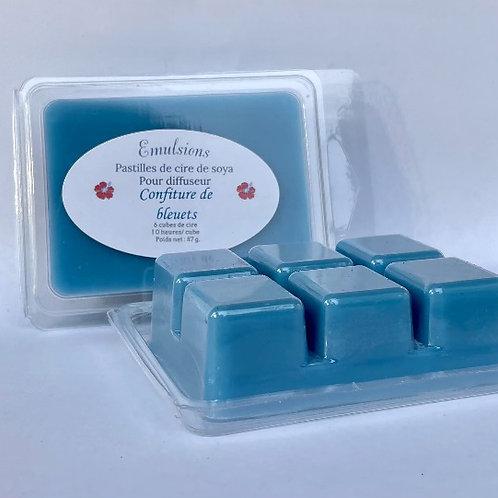 Pastilles de cire Confiture de bleuets