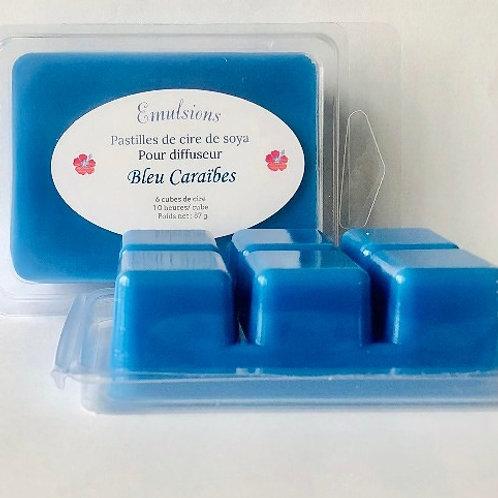 Pastilles de cire Bleu Caraïbes