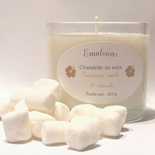 Chandelle guimauve, vanille & citrouille