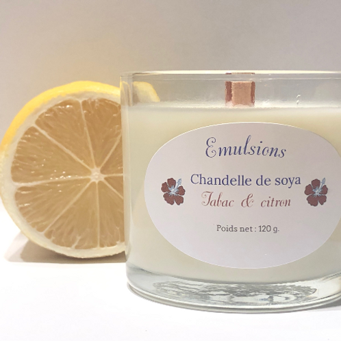 Chandelle tabac & citron