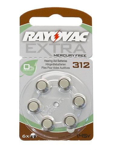 size 312 batteries