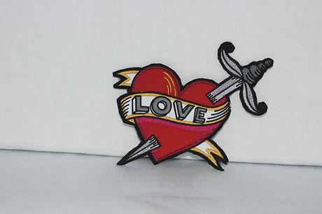 heart love patch
