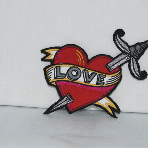Iron On Heart Patch