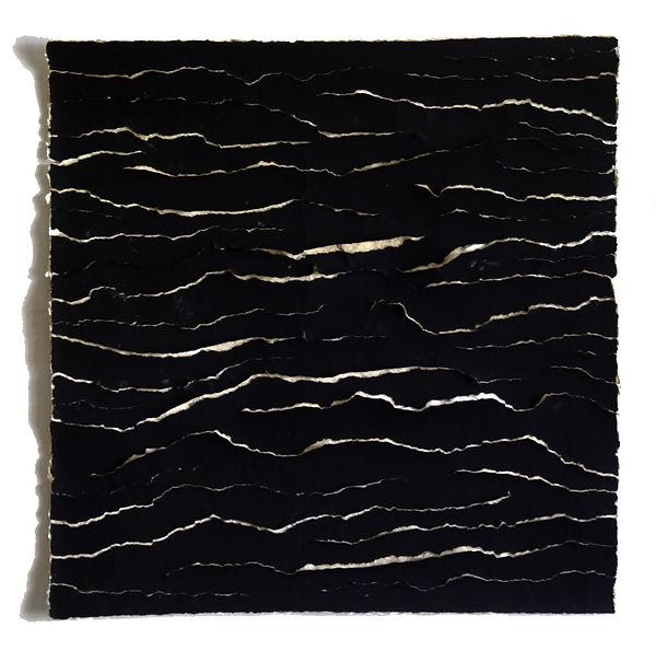 Paper (black) - 2020 - 30x30 cm - Encre
