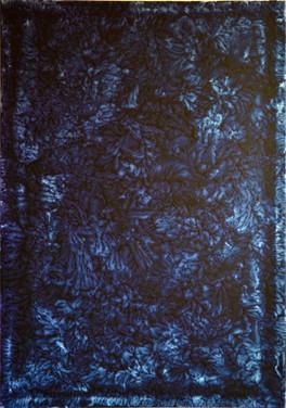 Taking Over Dark Blue on Canvas