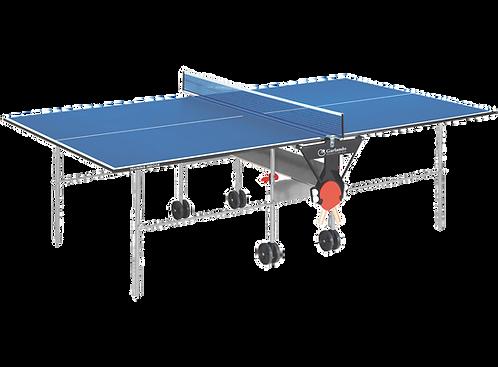Ping Pong Garlando Training Indoor Con Ruote Richiudibile Piano Blu