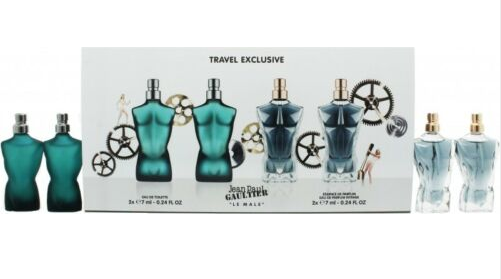 Jean Paul Gaultier Le Male Gift Set 2 x 7ml EDT + 2 x 7ml Le Male Essence EDP
