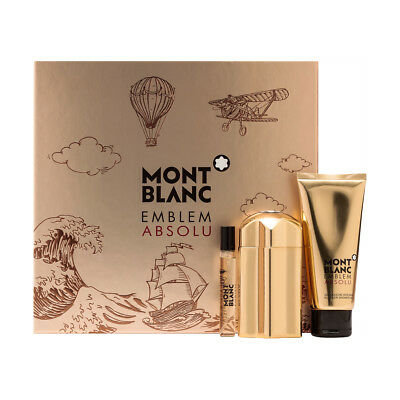 Mont Blanc Emblem Absolu Gift Set 100ml EDT + 100ml Shower Gel + 7.5ml EDT