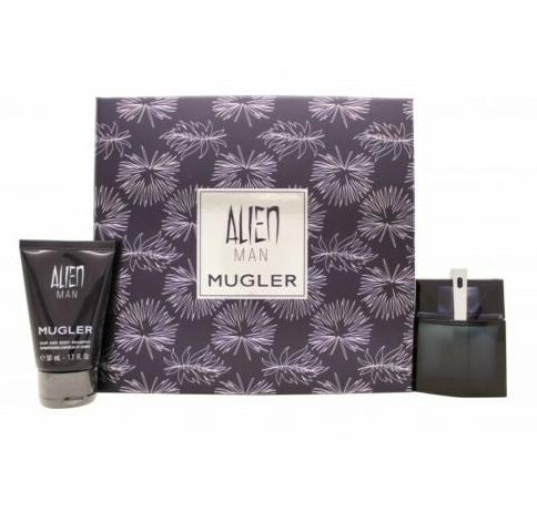 Thierry Mugler Alien Man Gift Set 100ml EDT Refillable + 50ml Shower Gel
