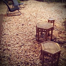 庭の休憩スペース
