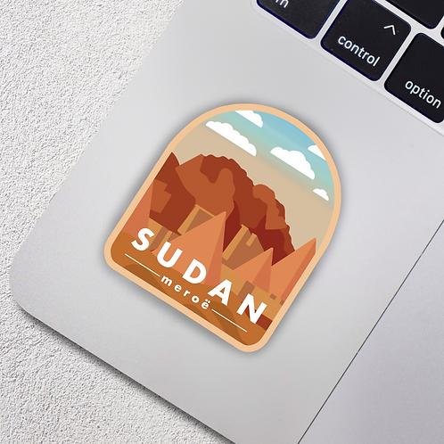 Meroe, Sudan City Badge Vinyl Sticker