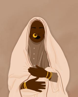 "Digital Portrait of ""Portrait of a Sudan"
