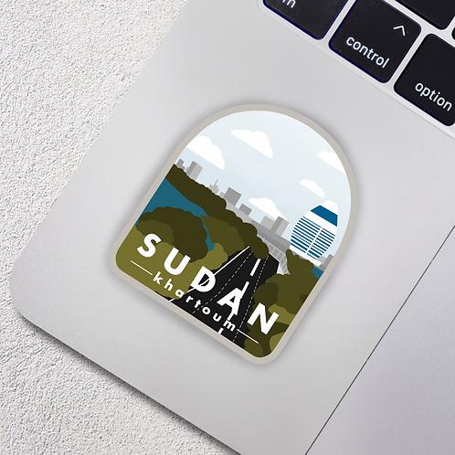 Khartoum, Sudan City Badge Vinyl Sticker