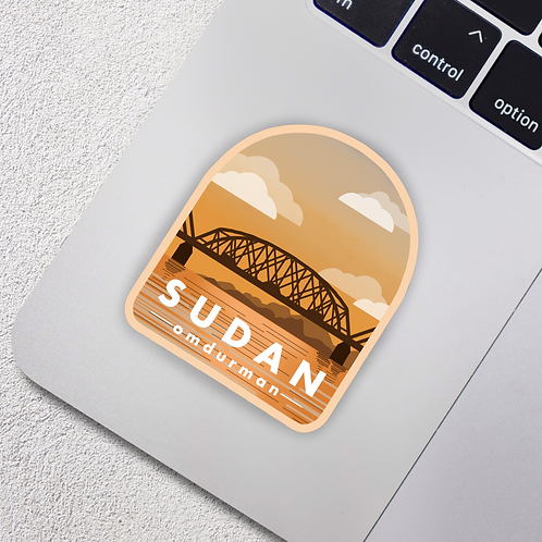 Omdurman, Sudan City Badge Vinyl Sticker