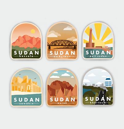 (BUNDLE) Sudan City Badge Vinyl Sticker
