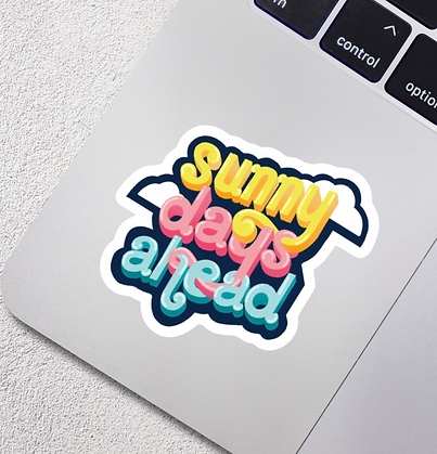Sunny Days Ahead Vinyl Sticker
