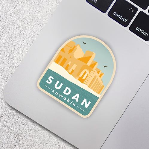 Sawakin, Sudan City Badge Vinyl Sticker